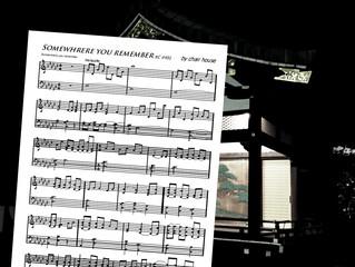 Somewhrere you remember piano score