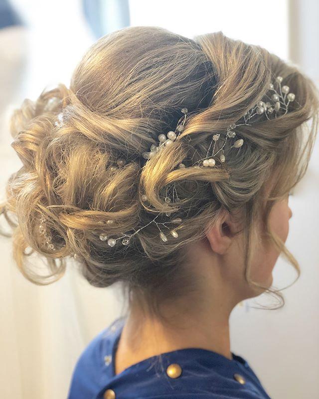 Beautiful bride ready for her big day! #Weddingday #bride #updo #hairstylist #chicago #prettyhair #hairbyedyta #bosslady #salonlife