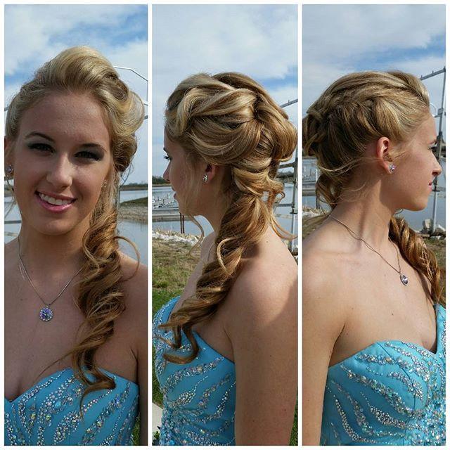 #bioionicstyleawards _Bio ionic Blue wave brush_Edyta_#stradasalon _#beautiful #prom #curls #stylist #style#updo #loveupdos