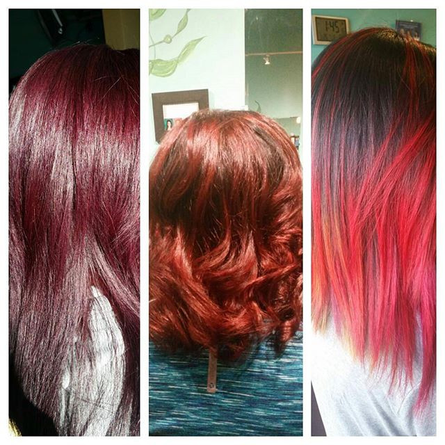 #Redcolor# vibrant red  from the bottom of Edyta's heart#stradasalon
