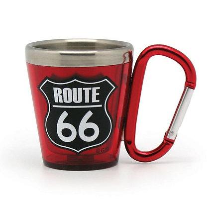 Route 66 Keychain Shot Glass