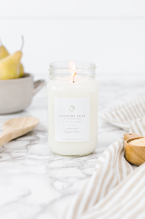 Country Pear by Cotton Stem - 16oz