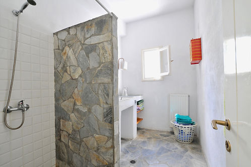 Shower room with large open shower.
