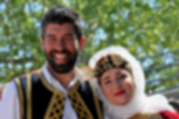 A couple in traditional dress
