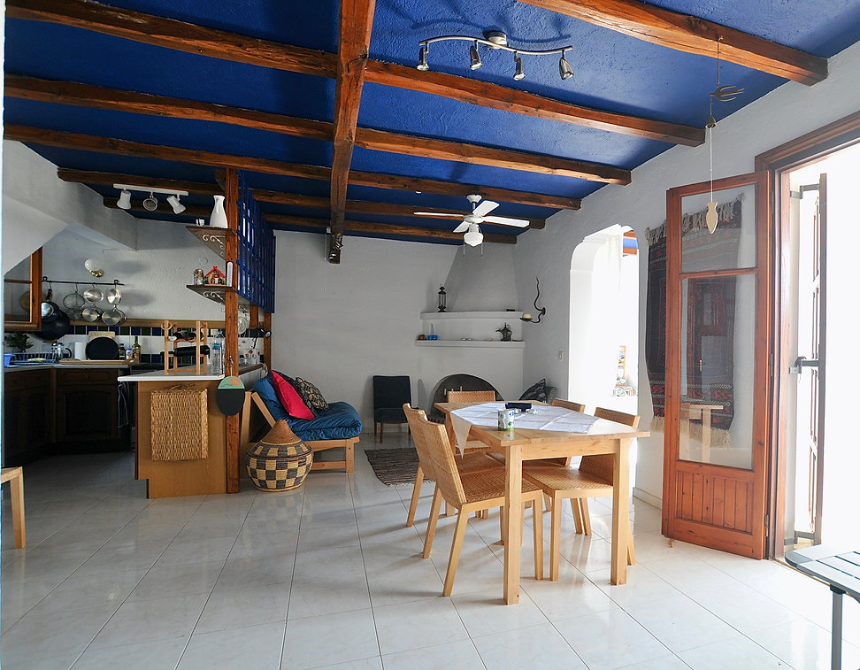 Dining area of dream house, old village of Alonissos.
