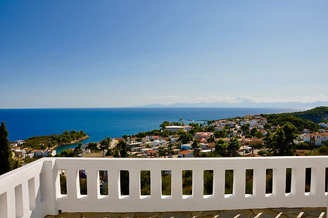 View from top balcony, Alonissos.