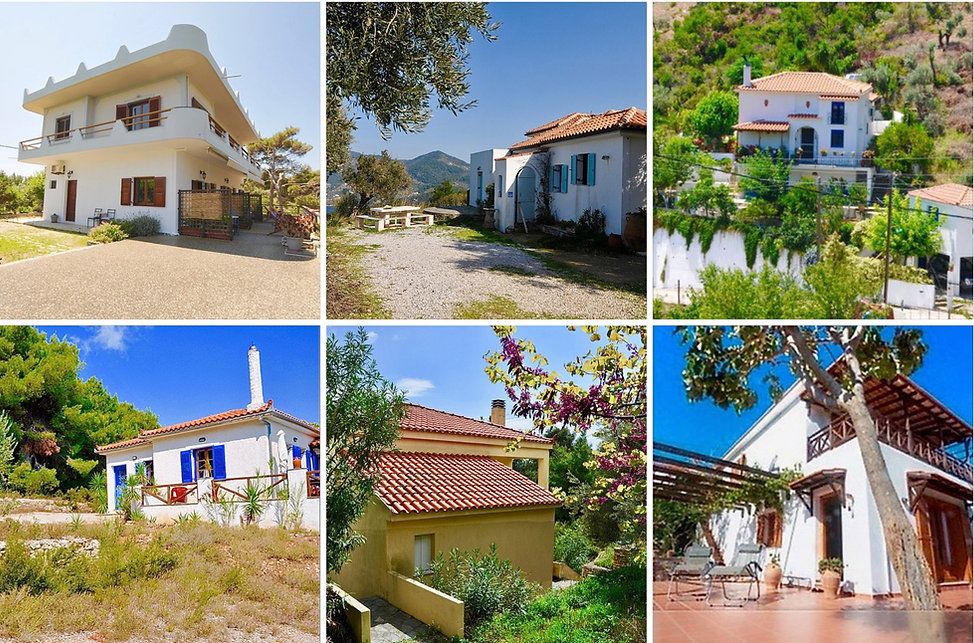 Three houses for sale on Alonissos