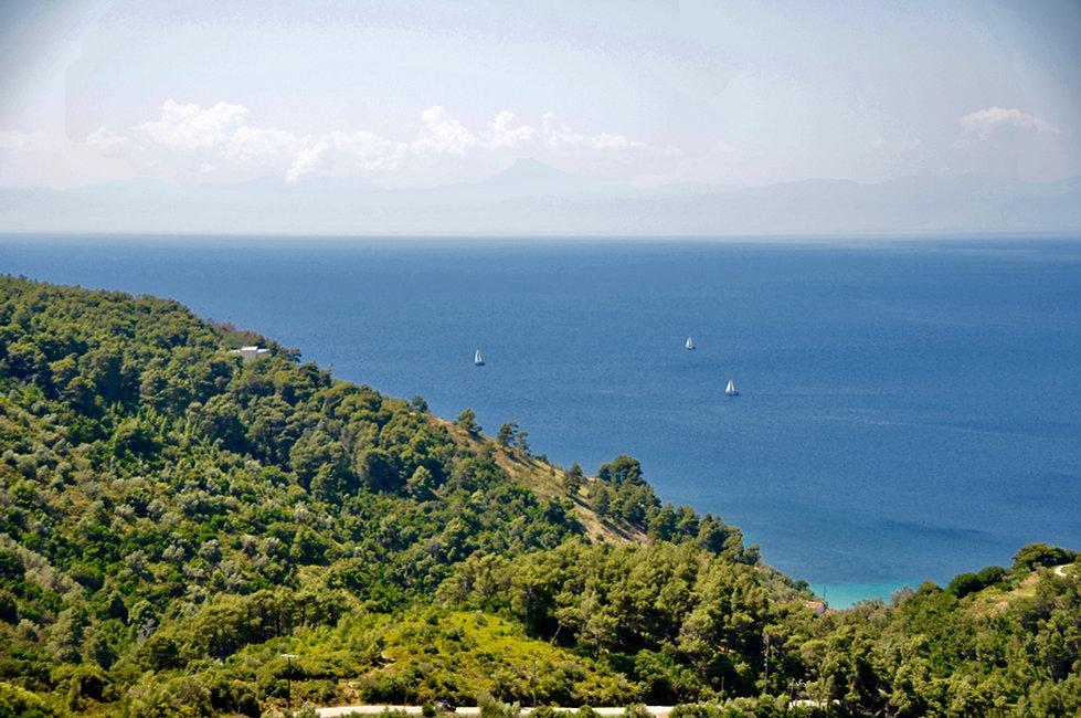 View lookingout towards Evia, mainland Greece.