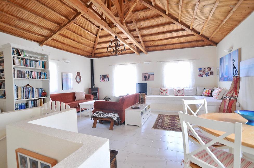 Living room of villa in old village ofAlonissos