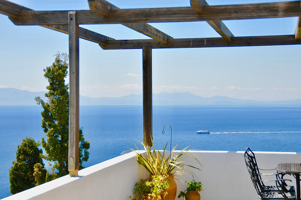 Stunning view from balcony of villa Eirene, old village Alonissos