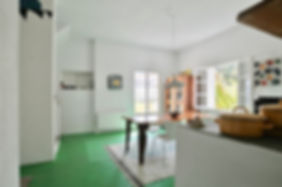 Kitchen and dining area ofa housein Alonissos.