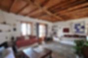 Wooden ceiling over livingroom