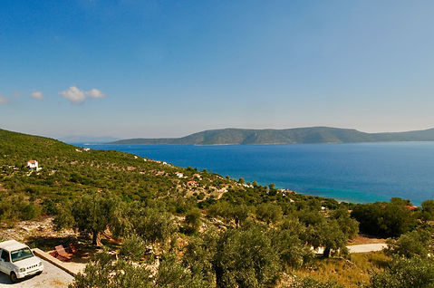 Aegean Sea and Alonissos countryside.