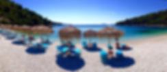 A beach on Alonissos, Leftos Gialos.