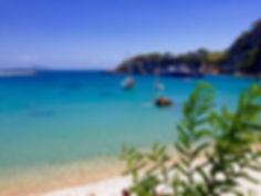 Patitiri beach, port of Alonissos and beach