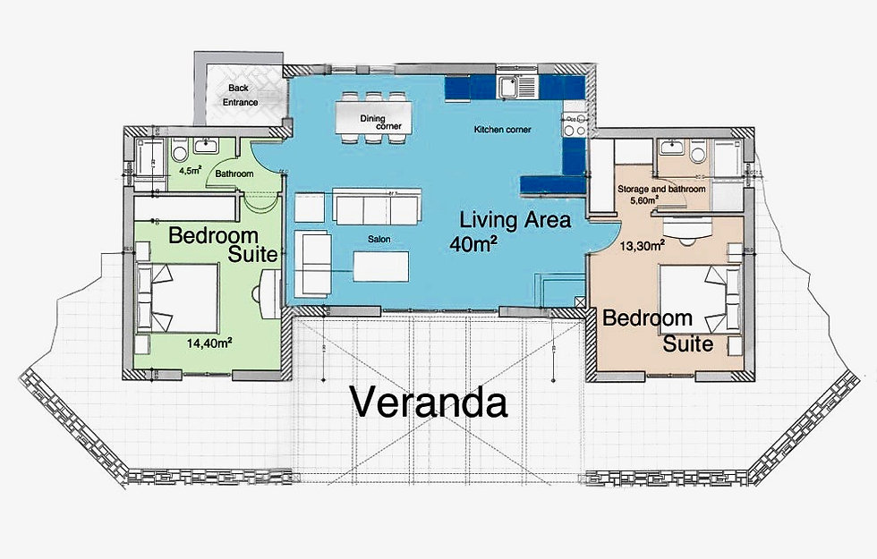 Floor plan of villa Petrou Elia