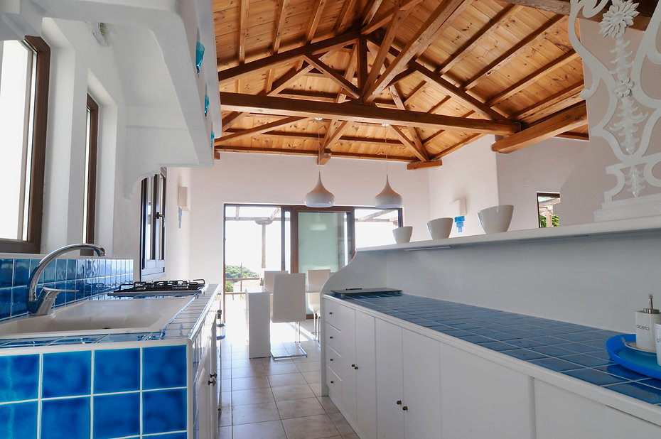Kitchen Area of Greek Villa