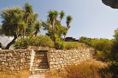 Stone Wall and Pergoda