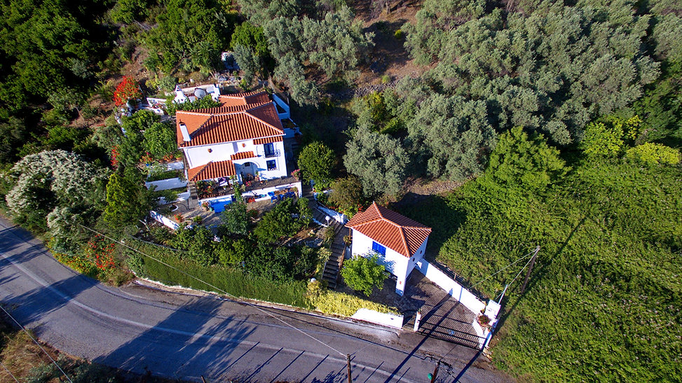 Ariel view of house in Kalamakia, Alonissos