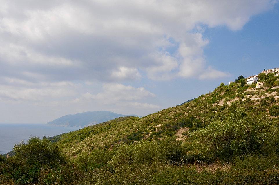 Villa Eirene on the hillside of the old village, Alonissos