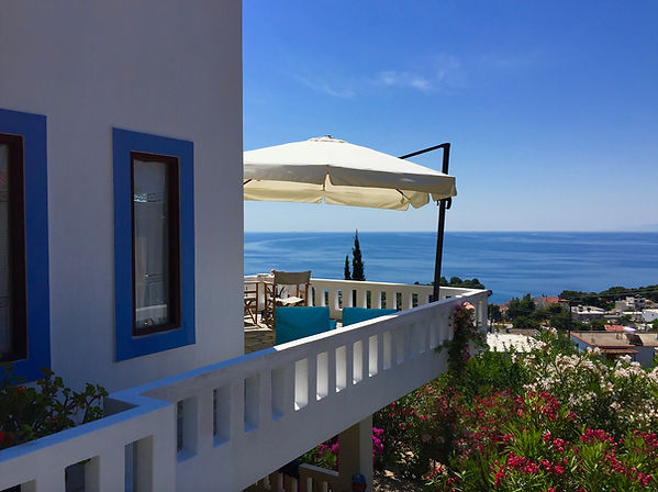 Balcony and sea view of house for sale on Alonissos