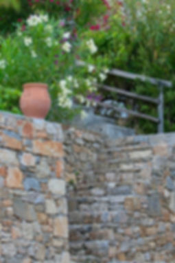 Alonissos stone steps to garden_