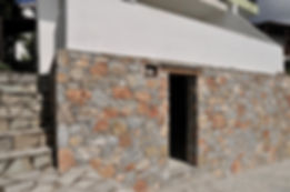Stone cladding renovation of property on