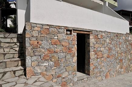 Stone cladding renovation of property on