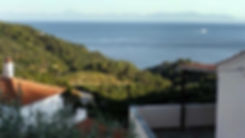 Sea view from balcony on Alonissos