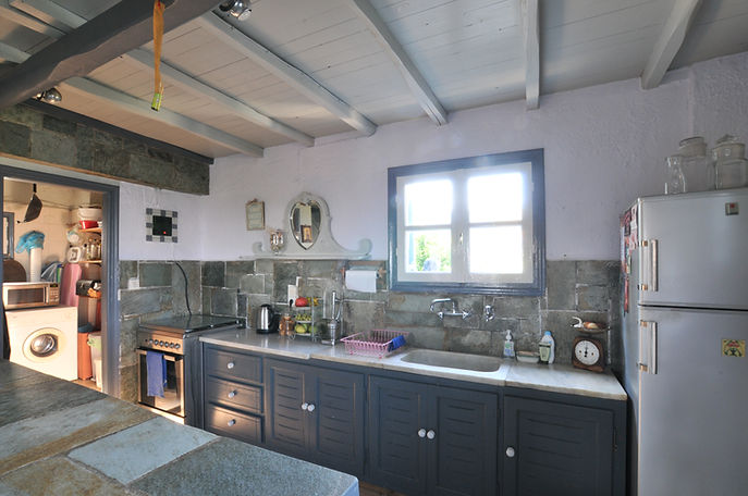 Greek country kitchen, marble work surface