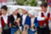 Children in Greek national costume in Alonissos
