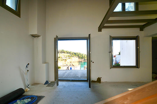 Upstairs living space and view.