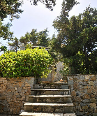 Steps from BBQ to main garden.