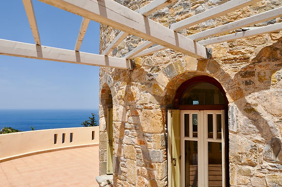 Sea view from tower and pergola
