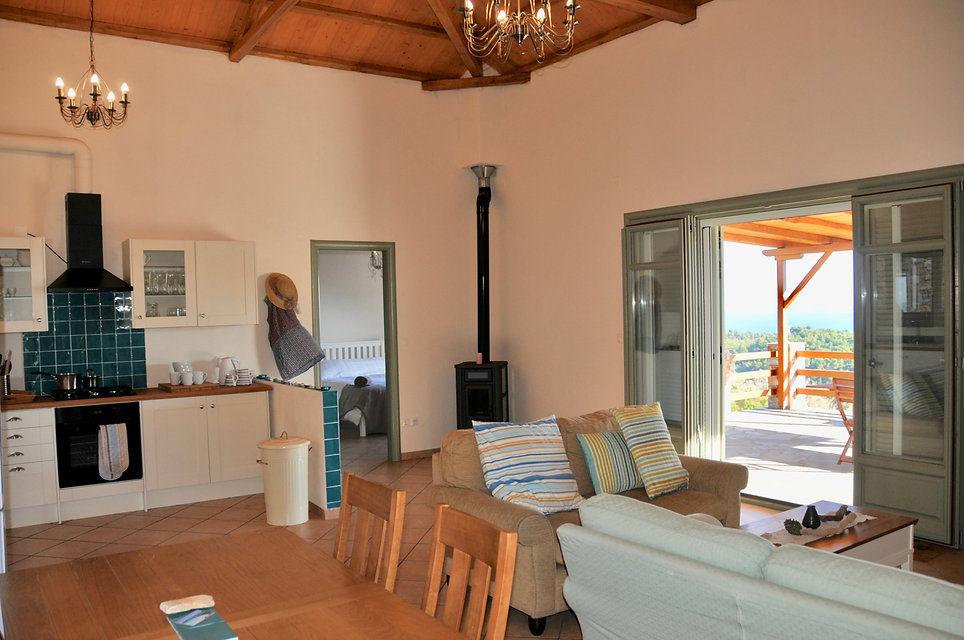 Large spacious, living room of Petrue Elia, Alonissos.