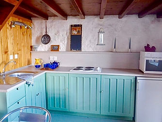 Simple painted wooden kitchen