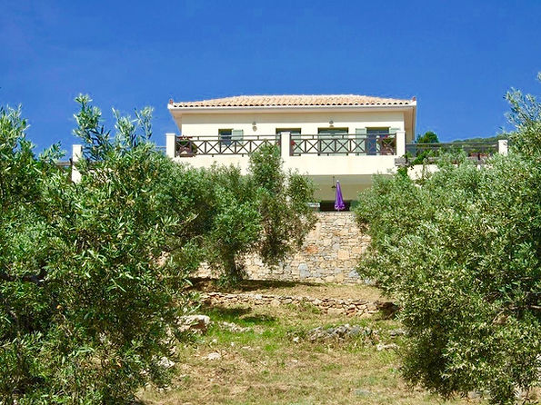 Front view of Lucinda house, Alonissos.