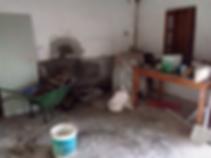 Buliding site of interior before refurbishment