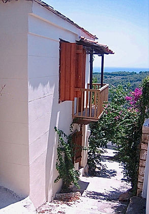Alonissos townhouse and street