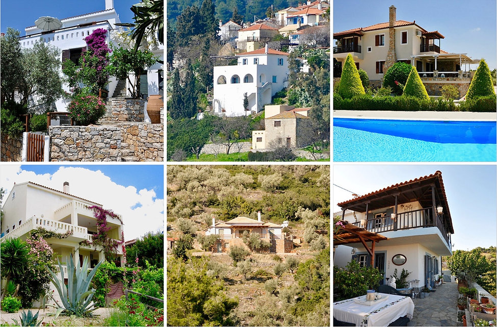 Images of many properties on Alonissos