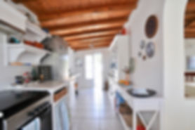 Kitchen to a villa in the old village of Alonissos