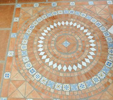 Round Greek floor mosiac patern
