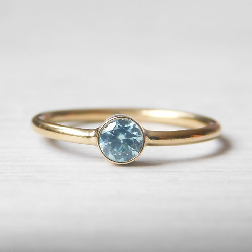 4mm Gold Birthstone Ring