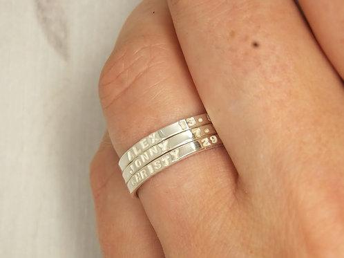 Personalised set of stacking rings