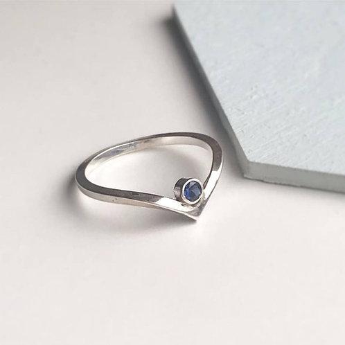 Wishbone Birthstone Ring