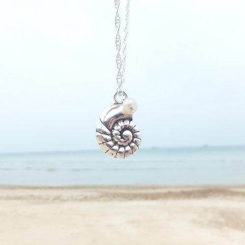 Ammonite Shell Pendant
