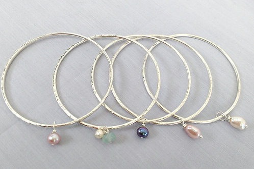 Freshwater Pearl Silver Bangle