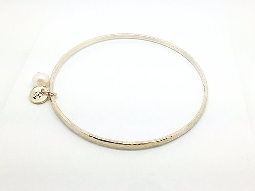 9ct Gold Initial Bangle