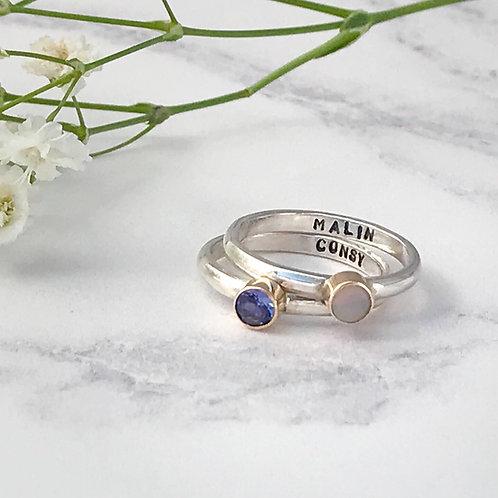 Personalised Birthstone Ring