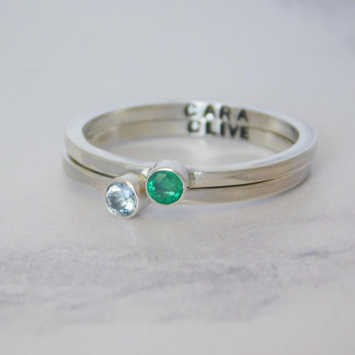 Name gemstone ring